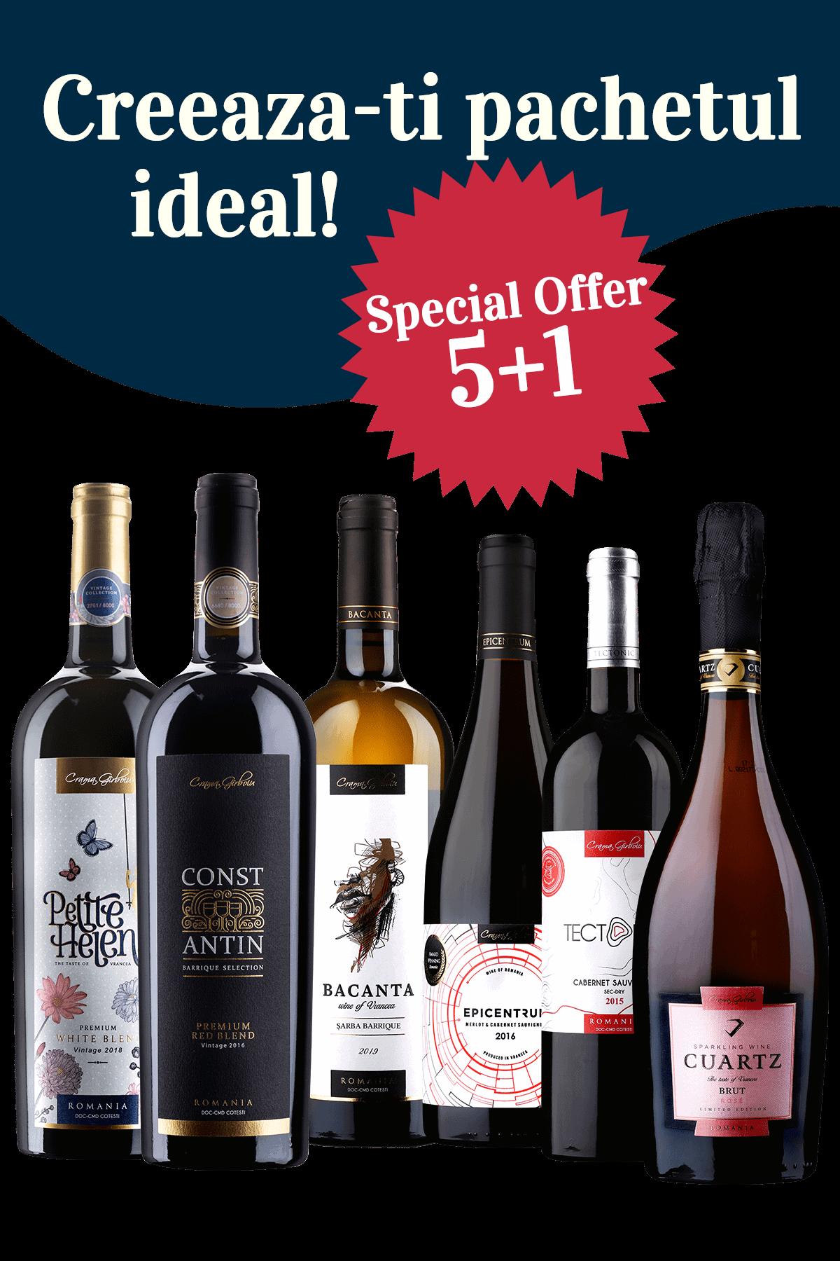 Pachet Online cu 6 Sticle de Vin